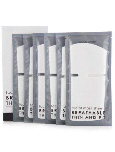 60 Pcs DIY Cosmetic Cotton Mask - White