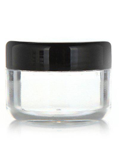 2 Pcs Travel Cosmetic Empty Jars - Black