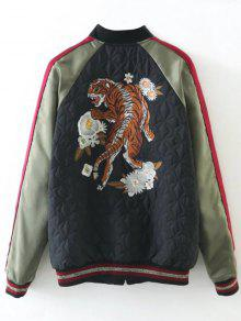 Tiger Embroidered Souvenir Baseball Jacket