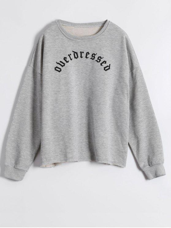 Vrac M Lettre Print SweatshirtGris Yb6gy7fv