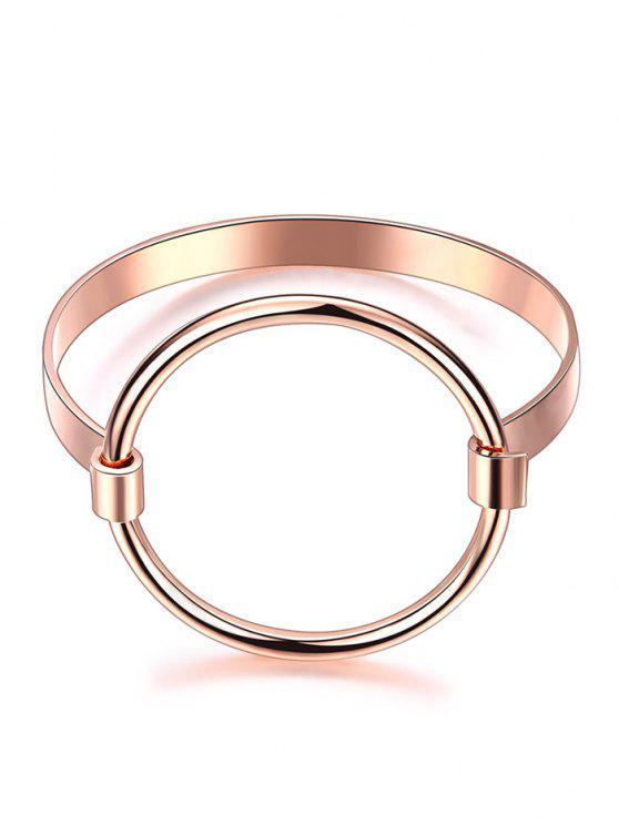 Ahuecado pulsera chapado en oro - Rosa de Oro