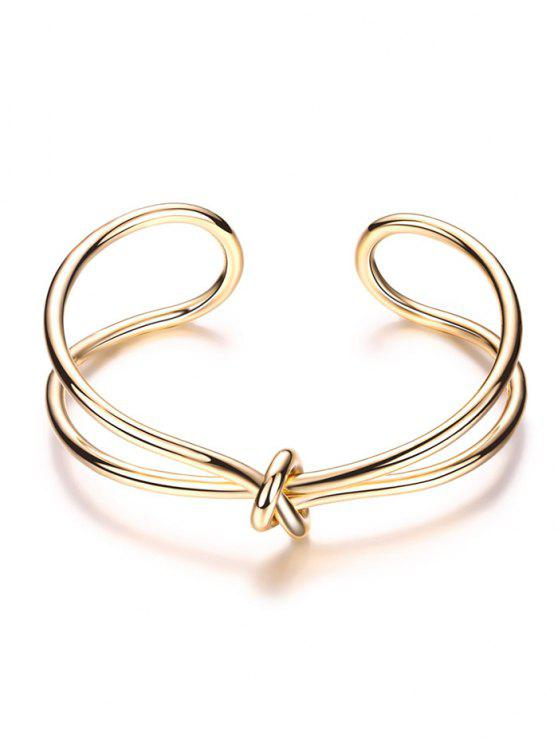 womens Infinite Knot Bracelet - GOLDEN