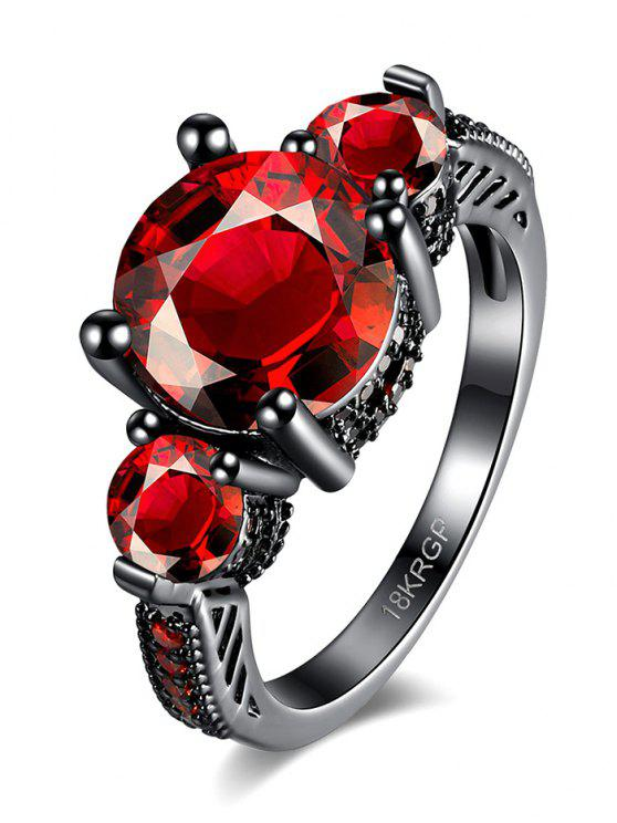 new Vintage Faux Gemstone Ring - RED 6