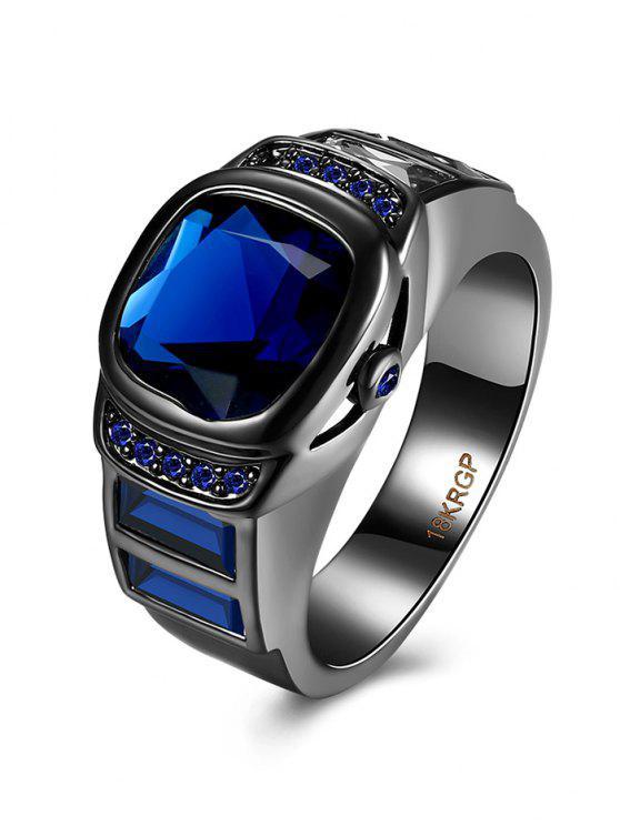 shop Vintage Faux Gem Ring - BLUE 6