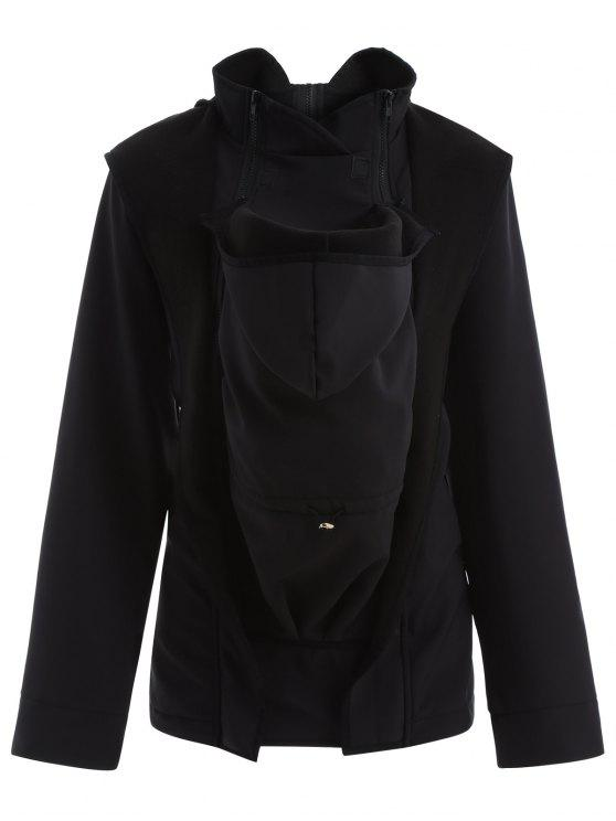 Chaqueta con capucha del portador de bebé canguro - Negro 2XL