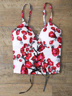 Gilet Sans Manches à Bretelles Et En Motif à Fleurs - Floral