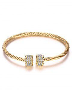 Twisted Wire Cuff Bracelet - Champagne Gold