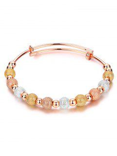 Dull Polished Beads Bracelet - Champagne Gold