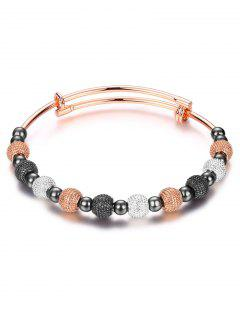 Dull Polished Beads Bracelet - Gun Metal