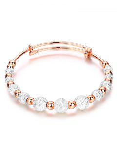 Dull Polished Beaded Bracelet - Silver And Golden