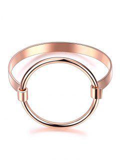 Hollowed Gold Plated Bracelet - Rose Gold