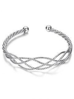 Bracelet Forme Câbles Croissantes - Argent