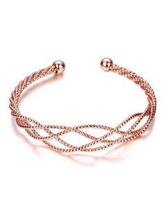 Cable Hollowed Bracelet - Rose Gold