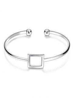 Bracelet évidement Carré  - Argent