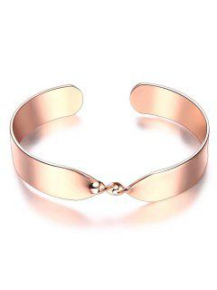 Bracelet En Alliage Tordu Infini  - Or Rose