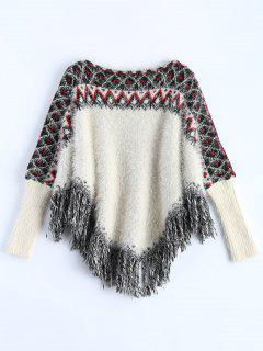 Fluffy Batwing Sweater - White