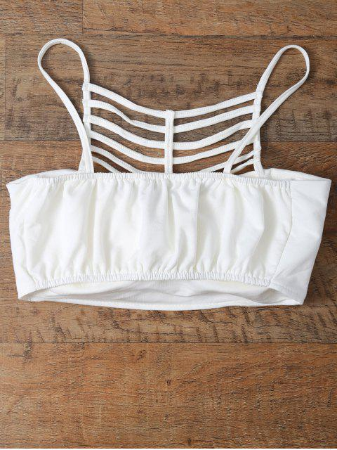 outfits Cut Out Strappy Cami Top - WHITE ONE SIZE Mobile