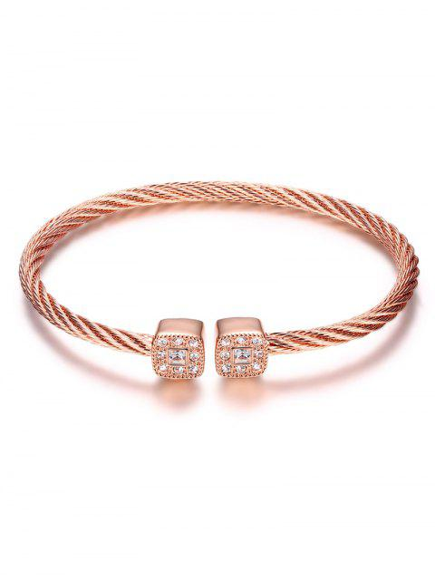 new Twisted Cable Cuff Bracelet - ROSE GOLD  Mobile