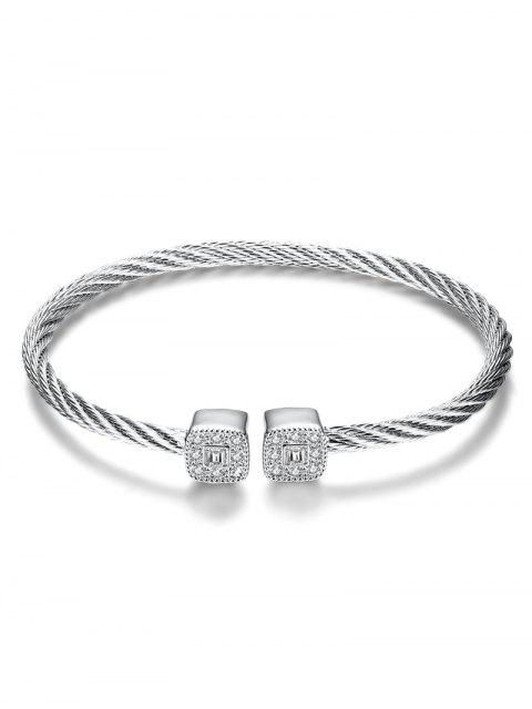 hot Twisted Cable Cuff Bracelet -   Mobile