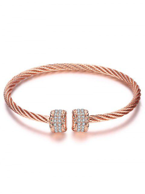 trendy Twisted Wire Cuff Bracelet -   Mobile