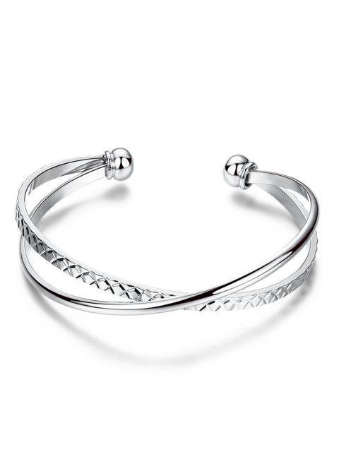 trendy Crossover Engraved Bracelet -   Mobile