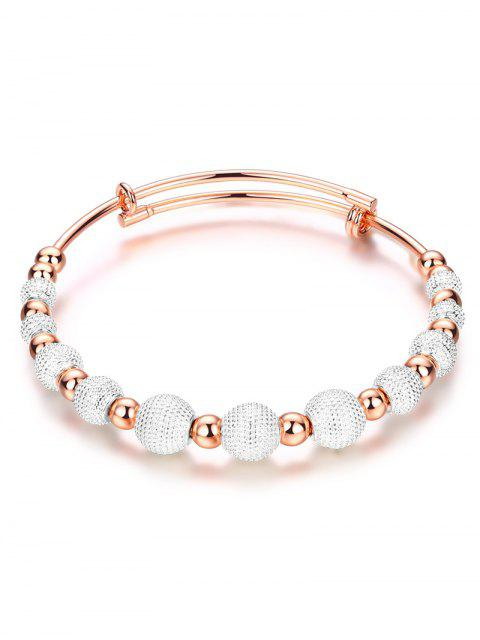 ladies Dull Polished Beaded Bracelet -   Mobile