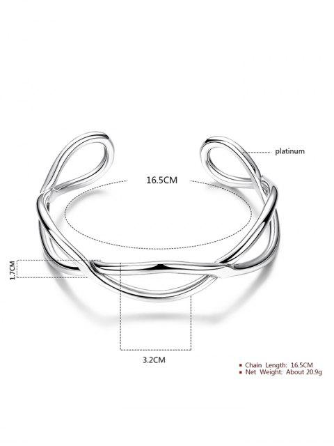 fancy Infinite Glod Plated Bracelet - SILVER  Mobile