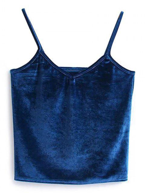 online Camisole Velvet Top - PEACOCK BLUE ONE SIZE Mobile