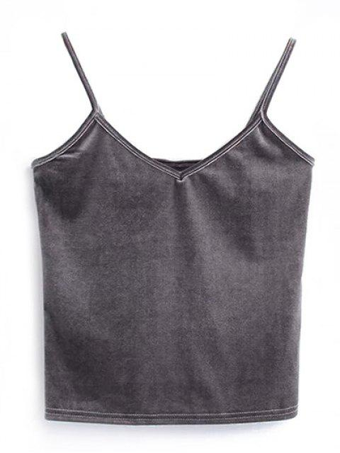 new Camisole Velvet Top - GRAY ONE SIZE Mobile