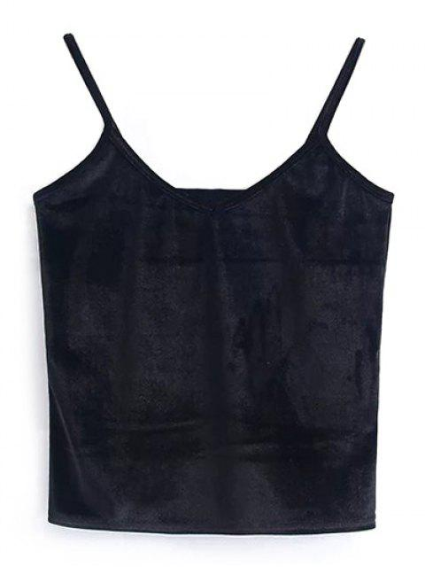 outfits Camisole Velvet Top - BLACK ONE SIZE Mobile