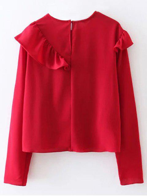 chic Frilled Top - RED S Mobile