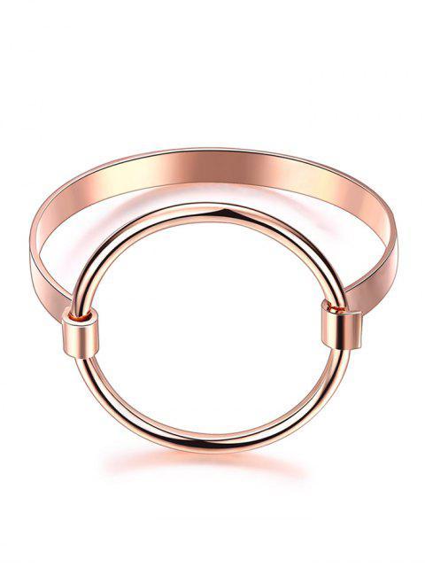 sale Hollowed Gold Plated Bracelet - ROSE GOLD  Mobile