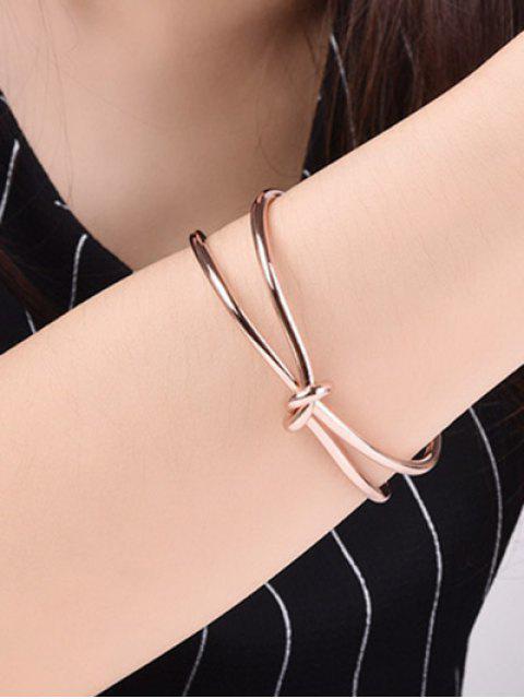 women Infinite Knot Bracelet - ROSE GOLD  Mobile