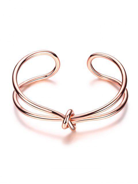 Bracelet forme de nœud infini - Or Rose  Mobile