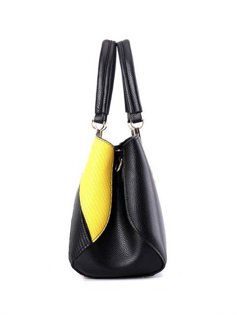 best Colored Stripes PU Leather Handbag -   Mobile