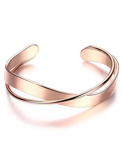 lady Crossover Cuff Bracelet - ROSE GOLD  Mobile