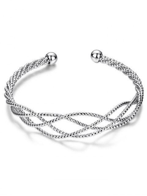 best Cable Hollowed Bracelet - SILVER  Mobile