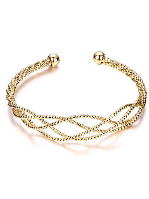 online Cable Hollowed Bracelet - GOLDEN  Mobile