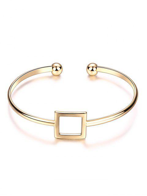affordable Square Hollowed Bracelet - GOLDEN  Mobile
