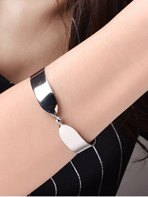 womens Alloy Twisted Infinite Bracelet -   Mobile