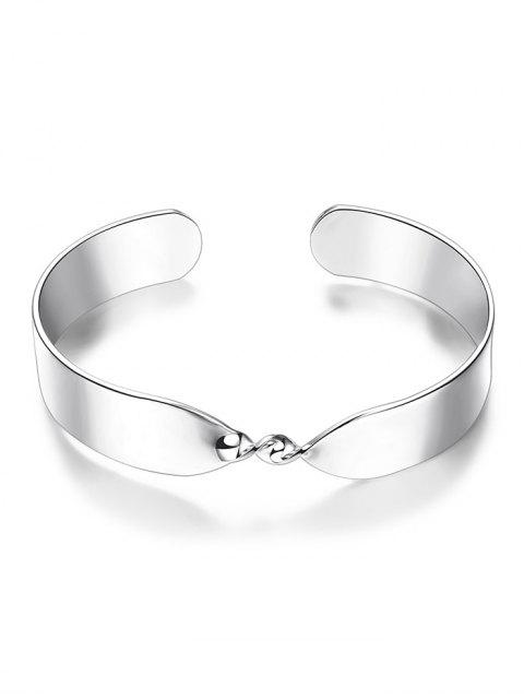 womens Alloy Twisted Infinite Bracelet -   Mobile