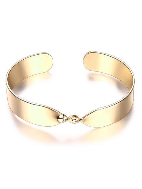 women Alloy Twisted Infinite Bracelet - GOLDEN  Mobile