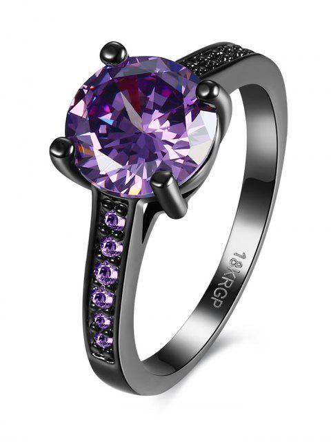 trendy Faux Gemstone Finger Ring -   Mobile