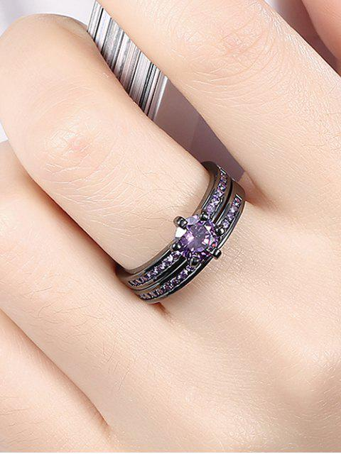 women 2PCS Rhinestoned Rings -   Mobile