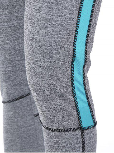 outfit High Rise Color Block Sporty Running Leggings - AZURE XL Mobile