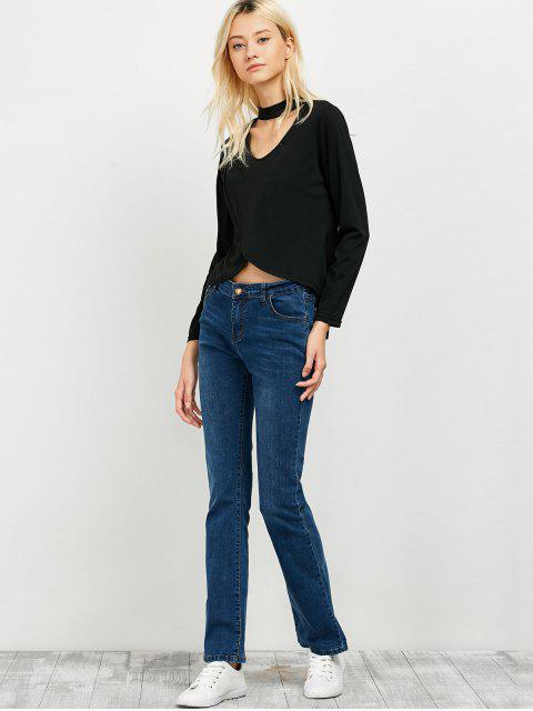 lady High Low Choker T-Shirt - BLACK S Mobile