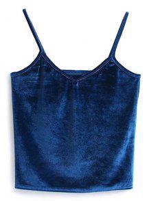 Gilet En Velours - Bleu Canard