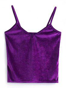 Camisole Velvet Top - Purple
