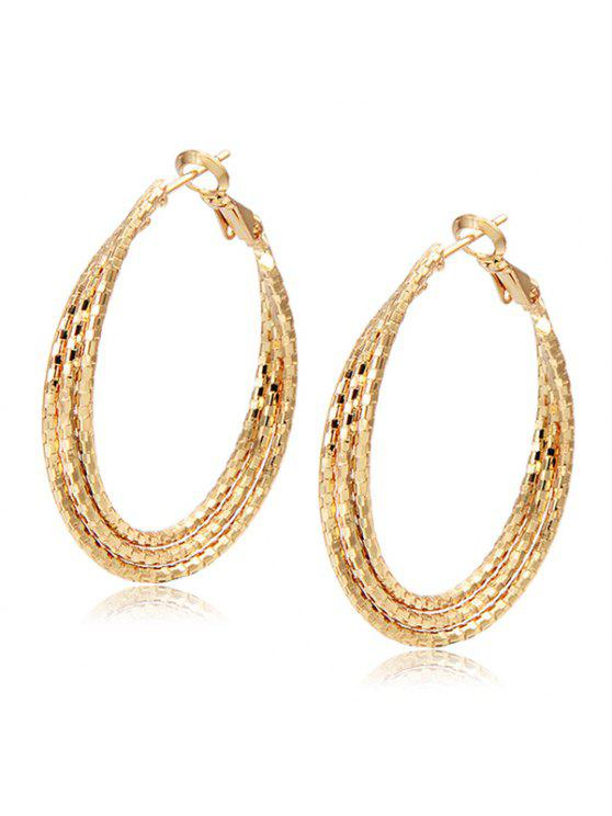 new Carved Layered Hoop Earrings - CHAMPAGNE