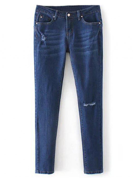 Pantalones Vaqueros de Lápiz Talle Bajo - Denim Blue M